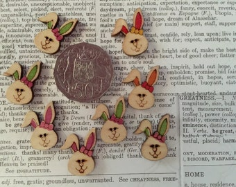 8 Bunny Buttons