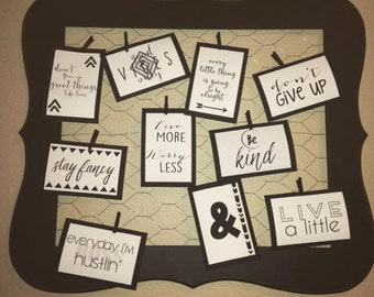 Inspiration Board- Happy Thoughts Board -Motivational Board
