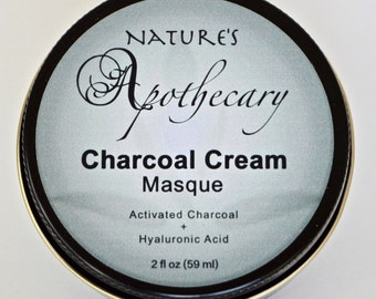 Clarifying Organic Charcoal Cream Masque with Activated Charcoal & Hyaluronic Acid