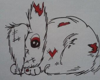 Zombie Bunny Wall Art