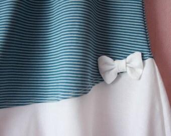 Girls striped asymmetrical dress - organic cotton (GOTS)