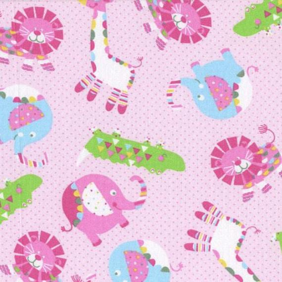 Nursery fabric safari animals child 39 s play giraffe for Safari fabric for nursery