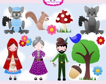 Little Red Riding Hood Clip Art Set