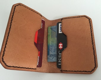 Men's Leather Wallet, 6 Cards + Cash