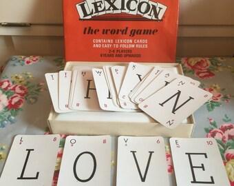 Vintage lexicon game