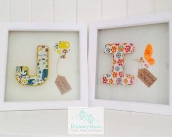 Framed Organic Fabric Letters