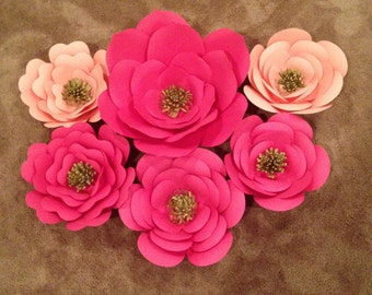 Paper Flower decor-set of 6