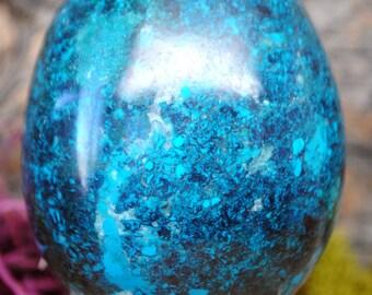 Chrysocolla Crystal Egg -  1177.52