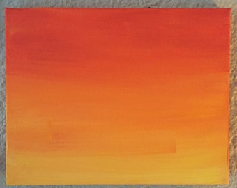 7x9 Sun Ombre painting