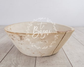 Newborn props wooden bowl basket photography