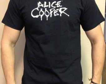 Alice Cooper T-shirt 100 % Cotton and 1 stisker Free