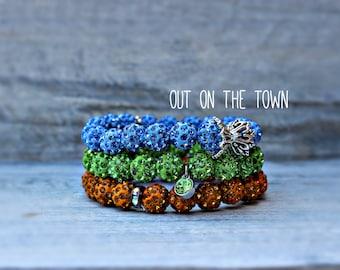 Crystal Bead Bracelet Set by UrbanFloraBoutique
