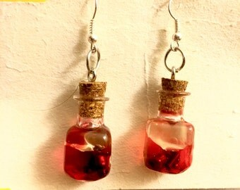 Blood Vile Dangle Earrings