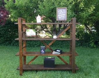 Rustic Handcrafted Toscano Bookshelf