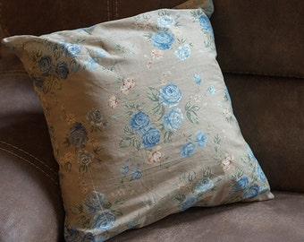 Blue Rose Pillow Cover