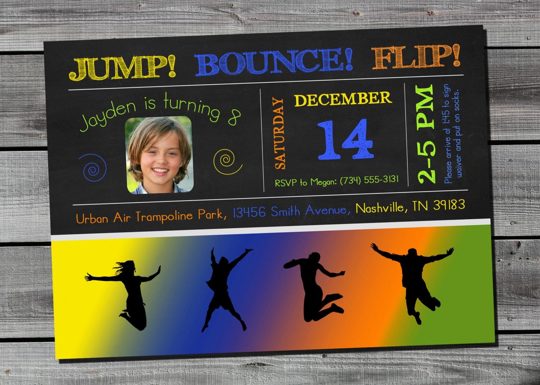 Skyzone Jump Trampoline Invitation Launch Urban Air