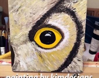 Owl Painting, Art Painting, ORIGINAL Painting, Acrylic Painting, Owl