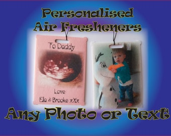 Personalised In-Car Air Freshener