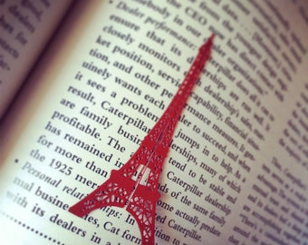 Bookmark inspired by the Eiffel Tower, hand-made, remember Paris, travel gift, free and custom gift card