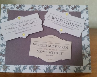 Downton Abbey card with quotes from the series