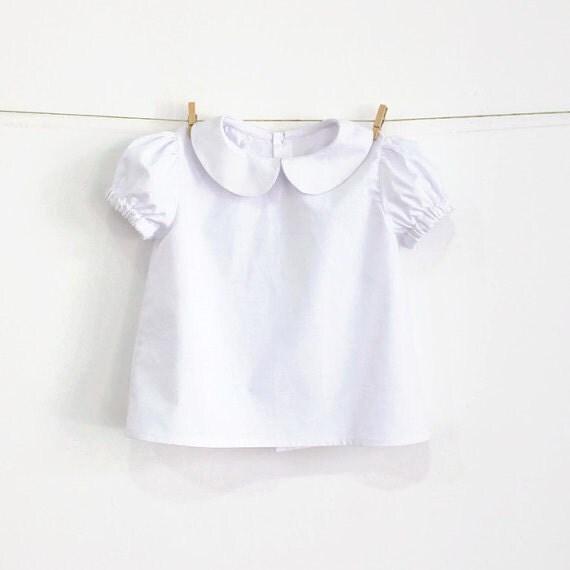 Baby peter pan collar blouse with puff sleeves pattern pdf for Peter pan shirt pattern