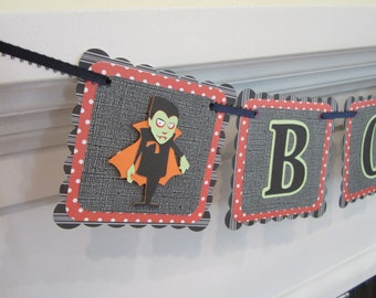 Halloween Banner, Dracula banner, BOO banner witch, BOO Banner, witch banner, Halloween decoration, Halloween party, Halloween Dracula sign