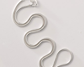 "Sterling silver chain - 20"" snake chain"
