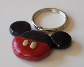 Polymer Clay Mickey Mouse Key Chain