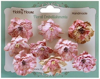 The Hobby House Boutique Paper Flowers - Vintage Blooms Pink