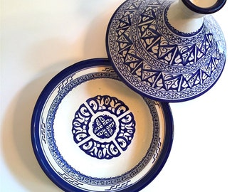 Blue and White Cooking Tagine