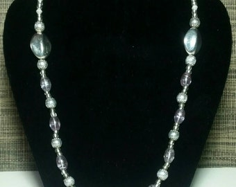 Silver Lining Bead Necklace
