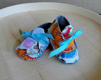 Mexican Folklore Ballet Print Baby Booties