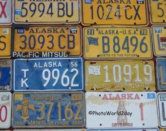 number plates, car plates, Alaska plate, licence plates, Alaska number plates, plates, license plate, license plate, America, Alaska