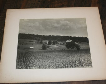 1939 Matted Photograph - Farm