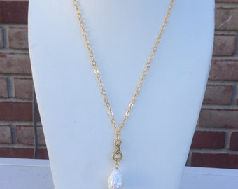 A  Baroque Freshwater Pearl Chain Necklace