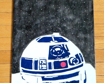 Star Wars R2D2 Acrylic Painting