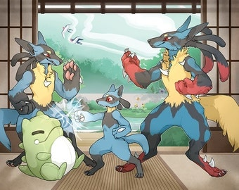 Riolu Training Print