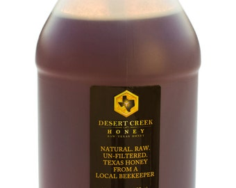 1 Gallon (12 lbs) Raw, Unfiltered, Delicious Natural Texas Honey