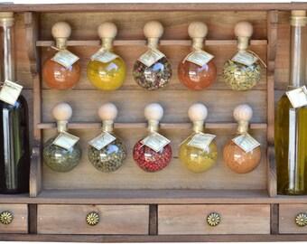 10 bubbles tint spice racks wood