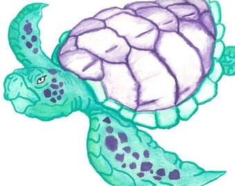 Set of 5 Turtle #1 Cards with Envelopes!
