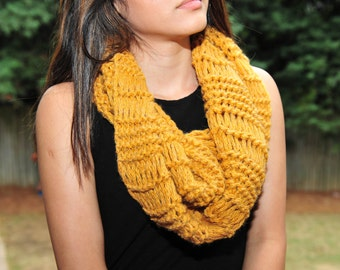 Knitting Scarf,Infinity Scarf,Scarf,Cowl Scarf,Acrylic. MADE IN USA!