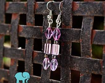 Puple Pizzazz Earrings