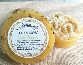 Lemon Poppyseed Loofah Soap