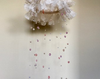 Shabby Chic Chandelier Baby Mobile