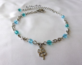"""anklet """"Lucky"""" Blue"""