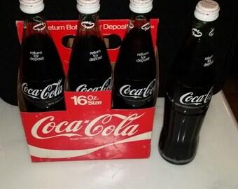 Vintage UNOPENED 16 oz Coca cola bottles