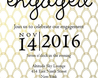 Customized Printable Invitation in Gold