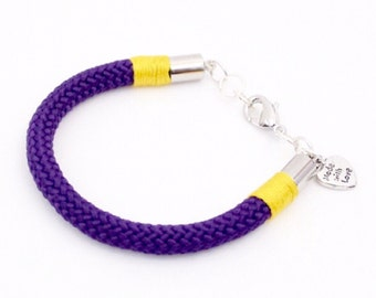 Everything Purple & Yellow Bracelet