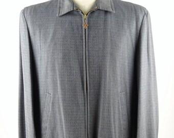 1950s RUGBY Sportswear Wool Gabardine Half Topcoat