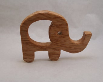 Wooden teether, Wooden Elephant Teether